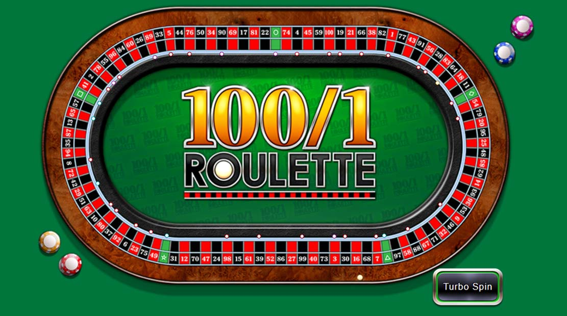 100/1 roulette ball spinning