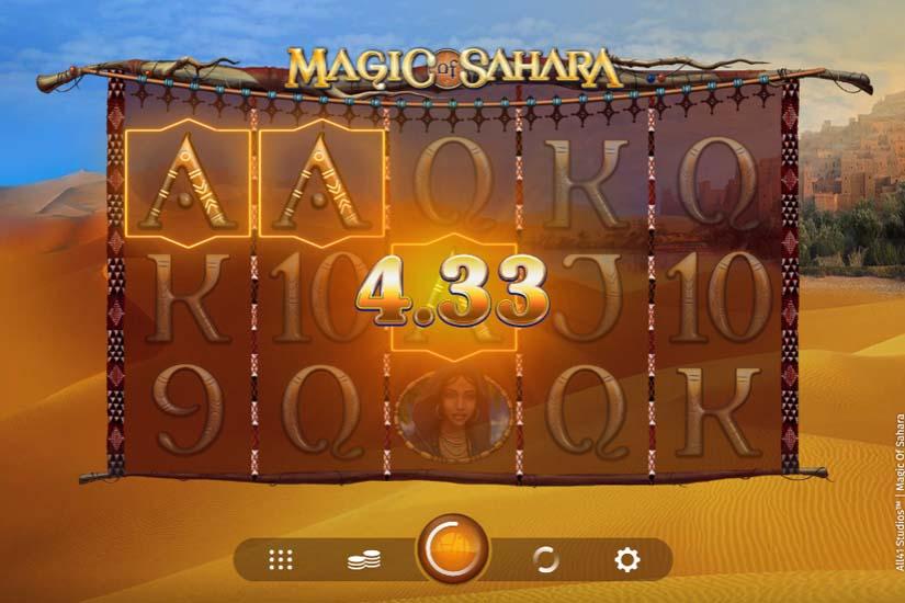 magic of sahara slot win