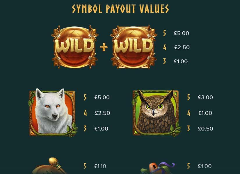 druids dream feature symbols