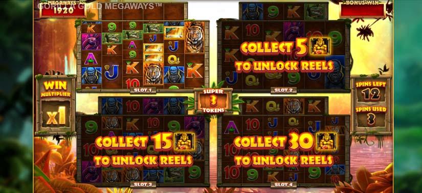 gorilla gold megaways bonus