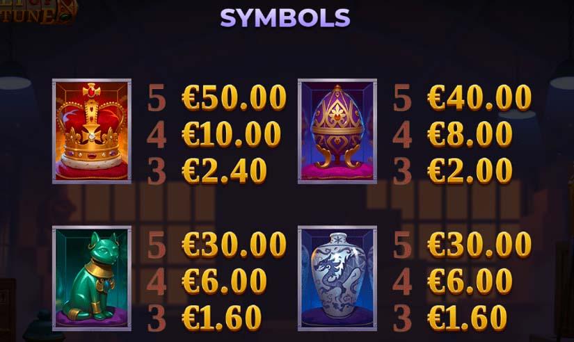 vault of fortune feature symbols