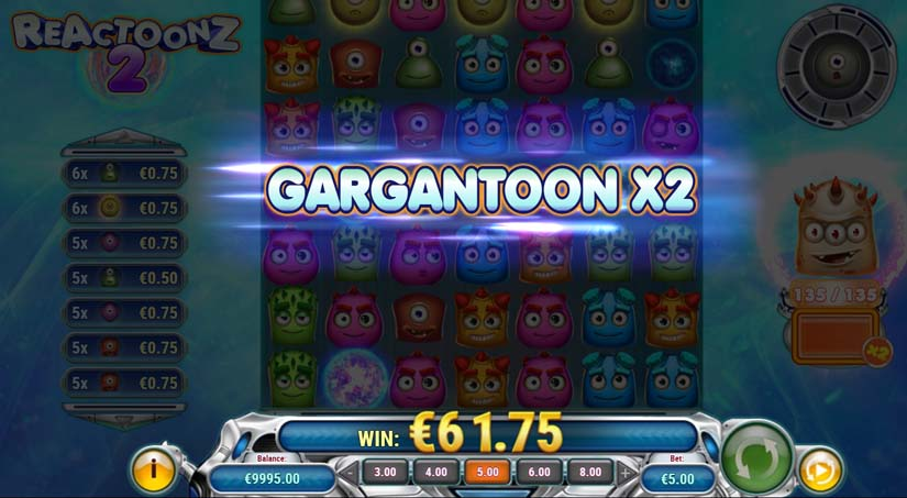 reactoonz 2 slot bonus