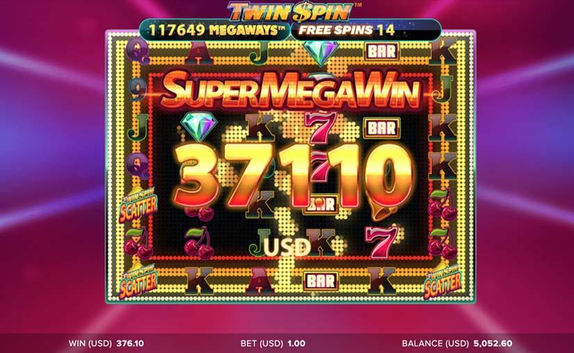 twin spin megaways win