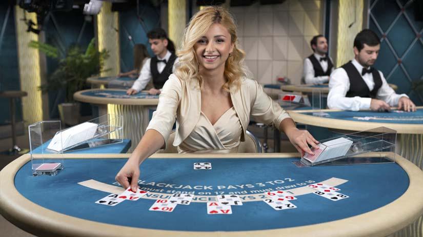 a game of online blackjack