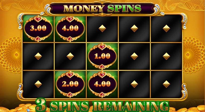 big money frenzy slot bonus