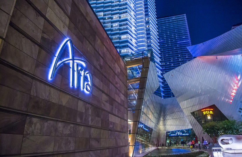 Aria Casino Entrance Ambience