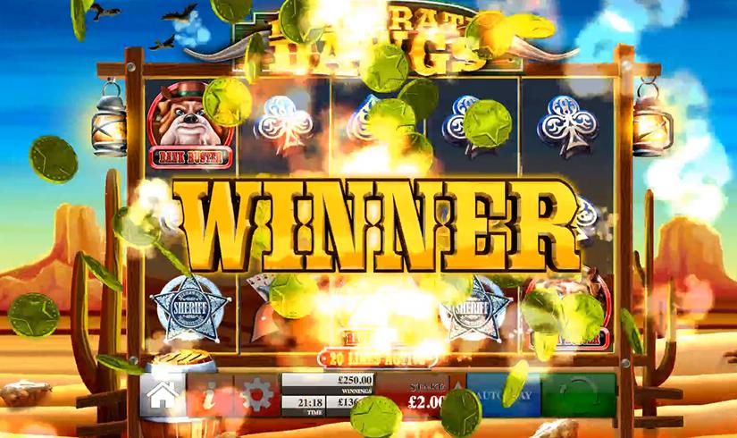 desperate dawgs slot win