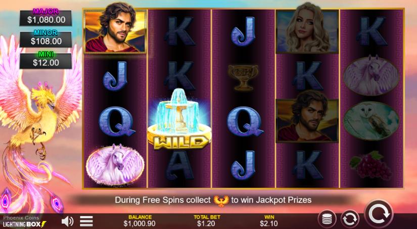 phoenix coins slot win
