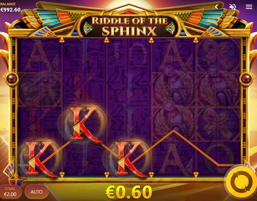 riddle of the sphinx slot win