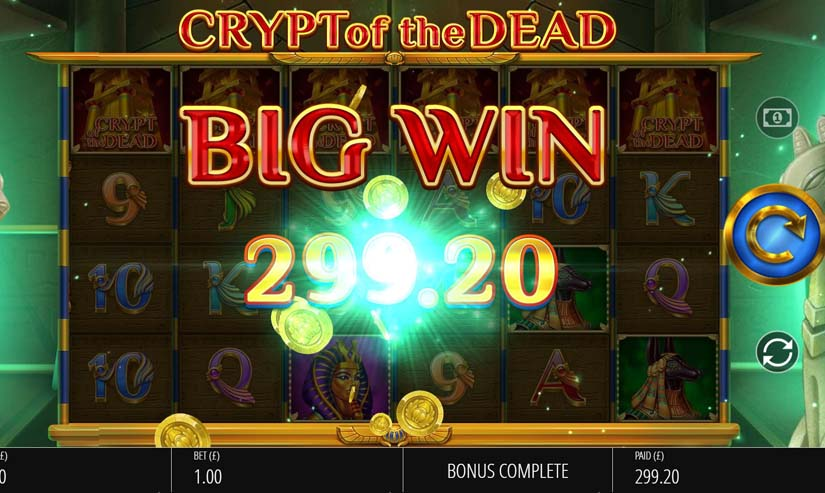 crypt of the dead slot win