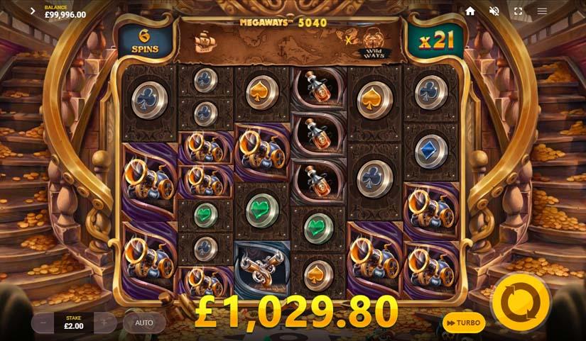 Pirates' Plenty Megaways Bonus Win