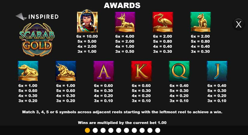Scarab Gold Bonus